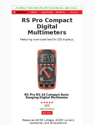 RadioShack - Digital Multimeters & Test Equipment
