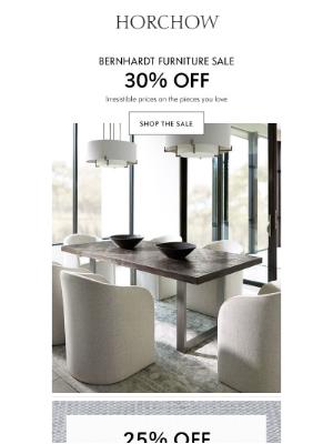 Horchow Mail Order - Bernhardt Sale: 30% off!