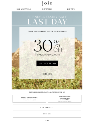 Joie - Final Hours | Our Biggest Sale of the Year