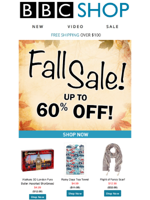 BBC - Our Fall Sale continues with up to 60% Off!