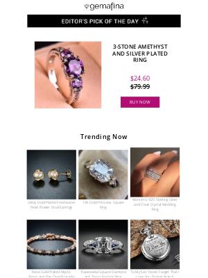 Dot & Bo - Editor's Pick: Amethyst Silver Plated Ring