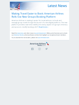 American Airlines - Making Travel Easier to Book: American Airlines Rolls Out New Groups Booking Platform