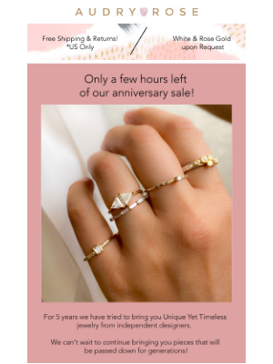 Audry Rose - Flash Sale: Only A Few Hours Left!!