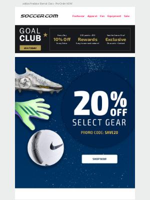SOCCER - HUGE SAVINGS ⚽️ 20% Off Top Soccer Gear