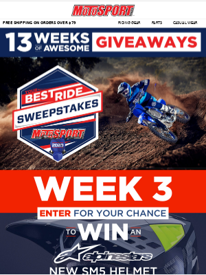 Win A 2021 Yamaha YZ250F | MotoSport.com Your Best Ride Sweepstakes