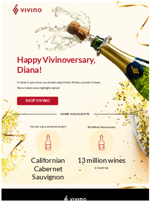Happy Vivinoversary, Diana!