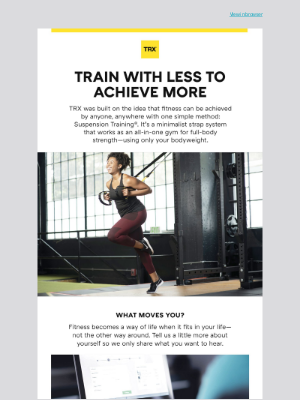 TRX Training - What Moves You?