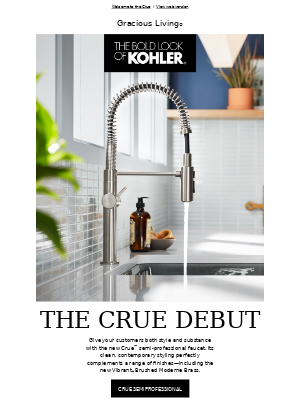 Kohler Co. - Meet the Kitchen Faucet Crue™