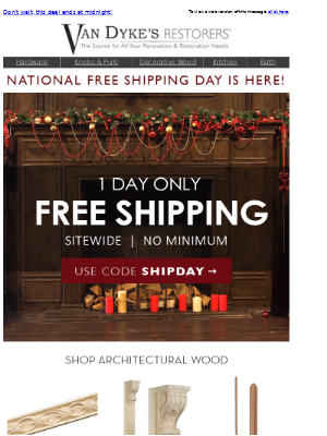 National Free Shipping Day — Today Only!