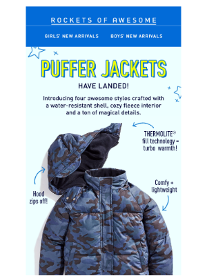 NEW Puffer Jackets! Look chill, stay cozy