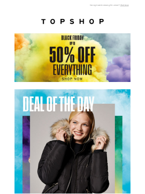 Topshop (UK) - Deal of the day: £39.99 puffer jackets
