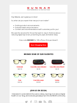 GUNNAR Optiks - 😎 Welcome! Here's 10% off your first order 😎