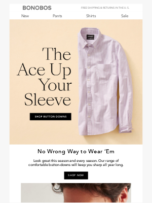 Bonobos - Look Buttoned-Up 365 Days a Year