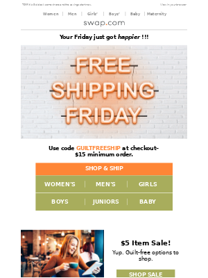 Alert: FREE Shipping Happy Hour Starts NOW 🍹Treat yourself with guilt-FREE savings.