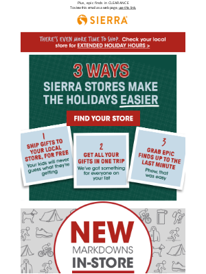 Sierra - The holidays are EASY at Sierra