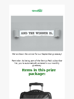 Genius Pack - And the winner is...