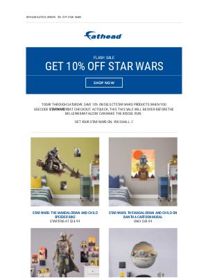 Fathead - ⚡ FLASH SALE ⚡ Get 10% off Star Wars