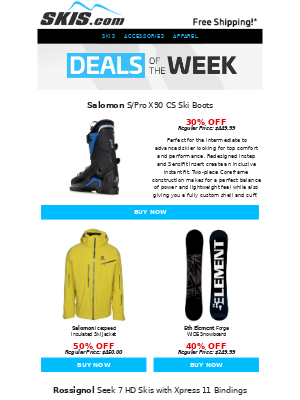 Skis - PRODUCT SPOTLIGHT: Salomon S/Pro Boot with Sensifit Insert & Coreframe Construction || Deals of the Week