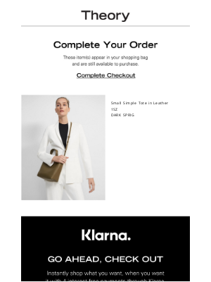 Theory - Don't Miss Out—Your Cart Is Waiting