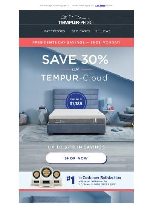 Tempur-Pedic - Save up to $719 on TEMPUR-Cloud®—Ends Monday