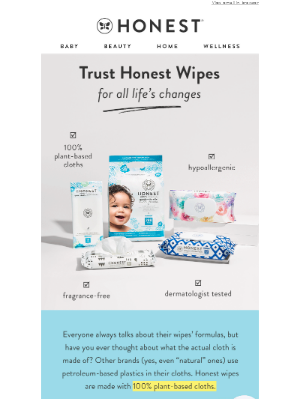 Plastic in our wipes, as if 🙅♀️