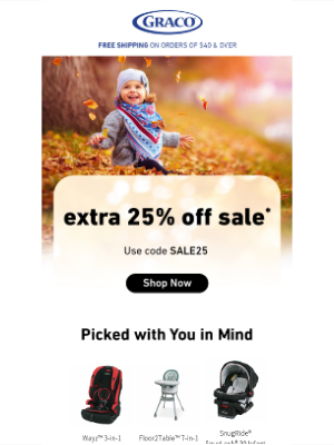 Graco Baby Products - Just a few more days to save big...