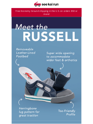 See Kai Run - Get to Know the Classic Russell Sneaker