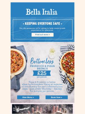 Bella Italia (UK) - Bottomless Pizza + Prosecco Brunch