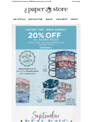 The Paper Store - Save 20% | New Pick of the Week