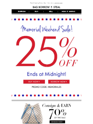 LAST CHANCE! 25% OFF SITEWIDE | Memorial Day SALE! ★