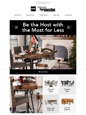 Nebraska Furniture Mart - Holiday hosting made easy.