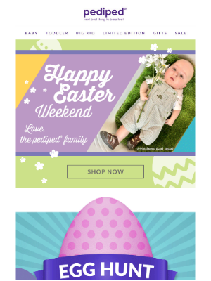 Pediped - Egg Hunt | Find our Latest Deal!