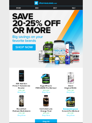 Bodybuilding - 🤩 Don't Miss Out: HUGE Savings on Top Brands!