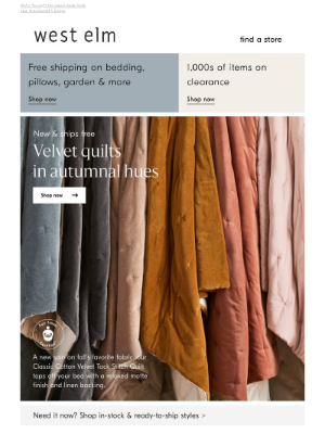 West Elm - A NEW take on fall's fave fabric