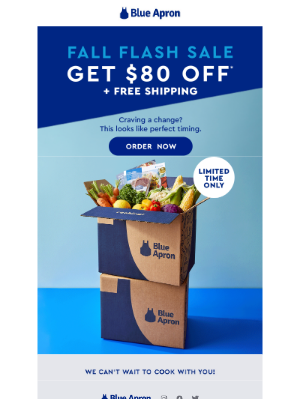 Blue Apron - The Fall Flash Sale is here!