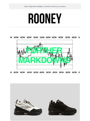 Rooney Shop - Further Markdowns : Up to 60% off.