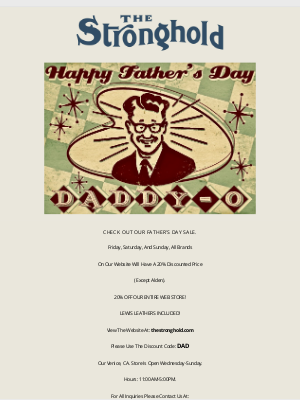 Hickoree's - THE STRONGHOLD FATHER'S DAY SALE!