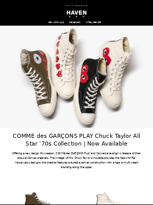 New Arrivals: CDG PLAY Converse | SOPHNET. | Uniform Experiment