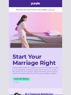 Purple - ❤️ The most comfortable bed for newlyweds