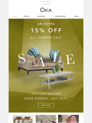 Don't miss an extra 15% off Sale