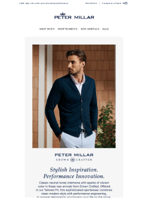 Peter Millar - Discover New Layers From Crown Crafted