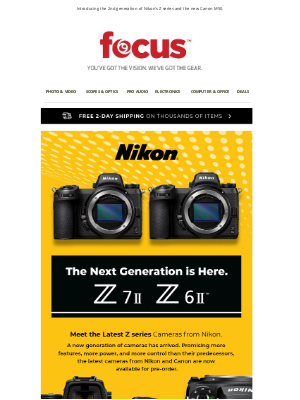 Focus Camera - New Cameras Announced by Nikon & Canon