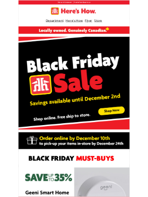 Home Hardware (CA) - Unlock your Black Friday offers 🔓