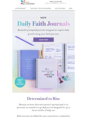 Erin Condren - NEW Daily Faith Journals