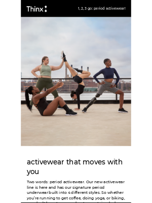 THINX - Major news: We make period activewear now 🤯👟