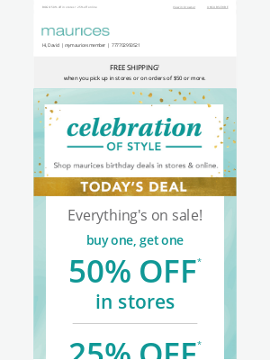 Maurices - Everything's on sale (including NEW arrivals)! 🎉