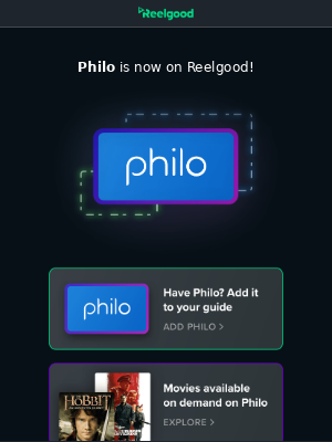 reelgood - Philo is here!