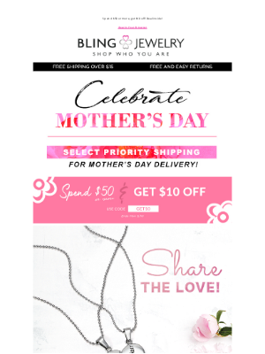 Bling Jewelry - Shop for Mom: Priority Shipping for Mother's Day!