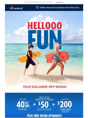 Carnival Cruise Line - So many destinations, so many extra perks!