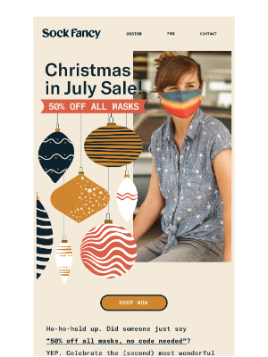 Sock Fancy - Celebrate Christmas in July with 50% off! 🎄